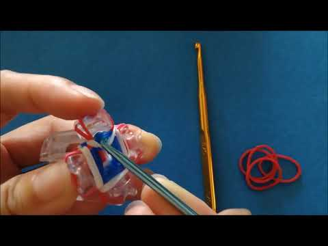EASY Rainbow Loom Hook Grip: How to make with the new Finger Loom using Loom Bands