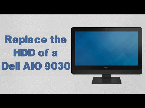Replace the HDD of a Dell AIO 9030 | Upgrade you HDD to SSD | Dell Optiplex AIO 9030