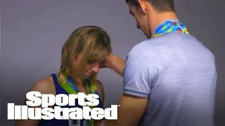 Michael Phelps Teaches Katie Ledecky How To Arrange Olympic Medals | Sports Illustrated
