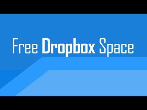 Get more free Dropbox storage space