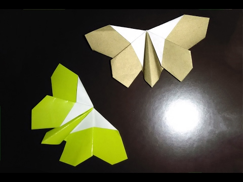 Origami butterfly - Easy to do. Paper butterfly - Ideas for Valentine's day
