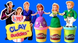 Sofia the First Clay Buddies Royal Family Activity Book Set Using Play-Doh