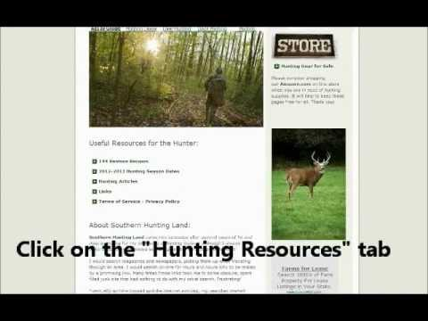 Hunting Season Dates 2012-2013 all 50 States listed here - Southern Hunting Land