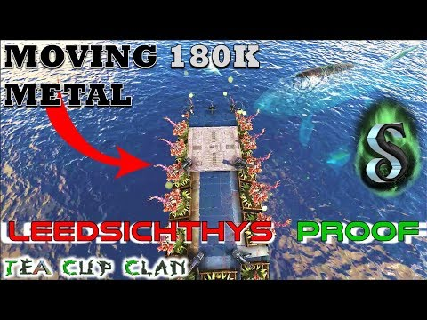 HOW TO MOVE 180K METAL USING A LEEDSICHTHYS PROOF MOTORBOAT - STEP BY STEP BUILD - ARK RAGNAROK