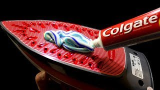EXPERIMENT: STEAMING IRON VS TOOTHPASTE