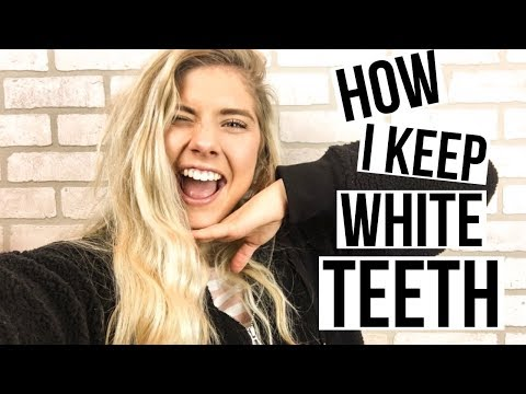 tips + tricks on how to have WHITE teeth!