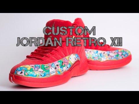 Custom Jordan Retro 12 XII - Funny Figures