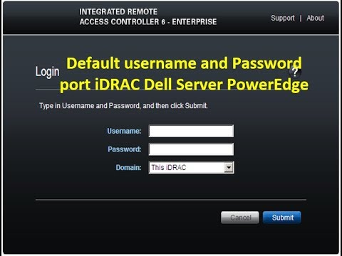 Quickly Login to iDRAC Dell Server with Default username and Password