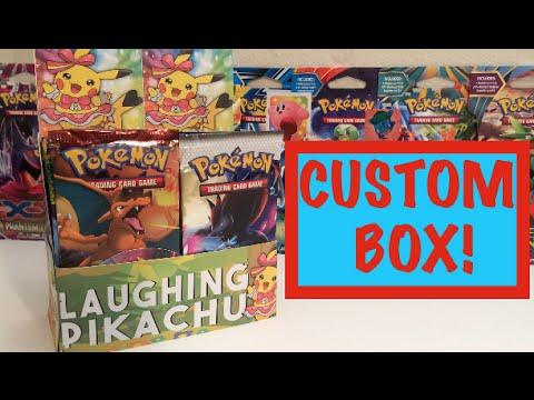 CRAZY Custom Pokemon Booster Box Opening!! *4 ULTRA RARES, 9 PACKS!!!* (Part 1)