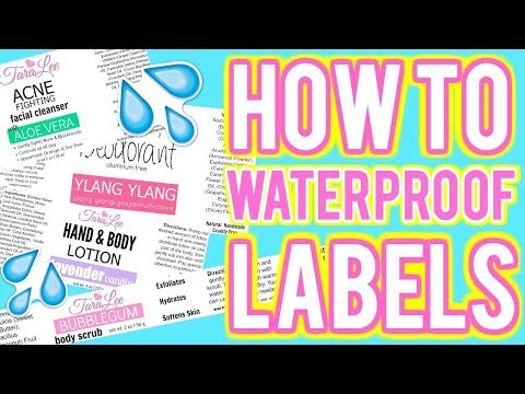 How to Waterproof Labels; DIY Homemade Labels for cosmetics and more Ι TaraLee