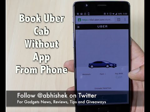 Tech Tip, Book Uber Cab Without App in India | Gadgets To Use