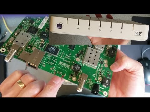 What is inside a SES Gilat SkyEdge II Aries Satellite Broadband Modem
