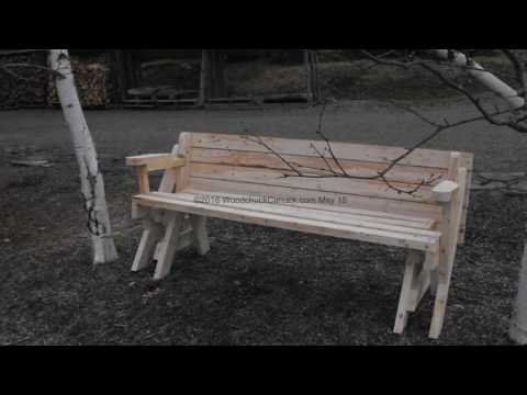 20160515 Folding bench picnic table