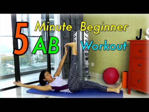 5-Minute Beginner Ab Workout for Flatter Tummy