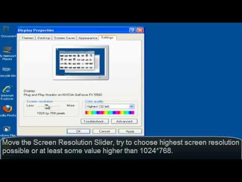 How to Change/Increase Screen Reolution for Windows XP