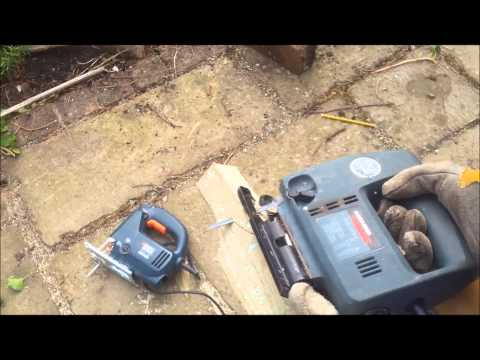 How to make an arris rail tenon joint when repairing a fence with concrete posts
