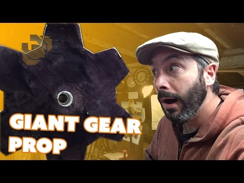 Making a Large Prop Gear from Insulation Foam - Prop: Live from the Shop