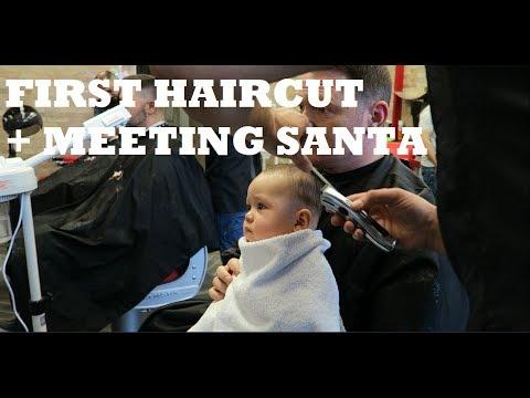 FIRST HAIRCUT + BABY ELF MEETS SANTA