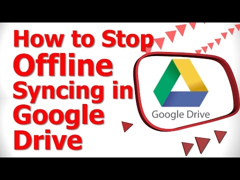 How to Stop Offline Syncing in Google Drive