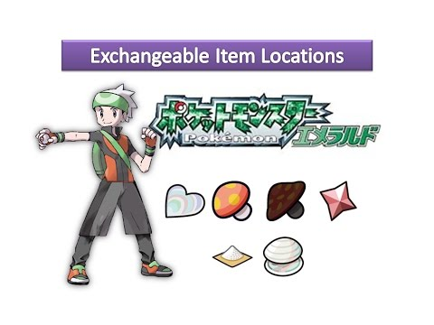 Pokemon Emerald - Exchangeable Item Locations
