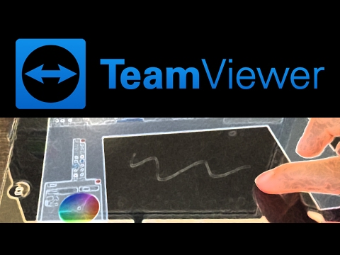 How to use your iPad as a Drawing Tablet for FREE using Team Viewer!