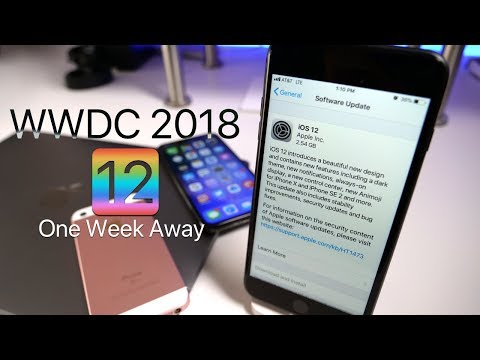 iOS 12 and WWDC 2018 - One Week Away