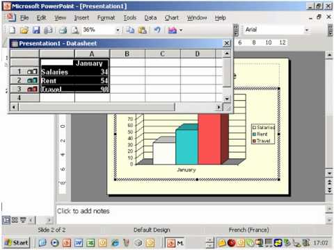 Animate your charts in Powerpoint