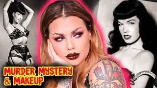 Bettie Page a killer?? The Case Of The Vanishing Pinup - Mystery & Makeup GRWM   Bailey Sarian
