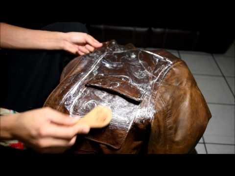 ASMR LEATHER JACKET CLEANING #3