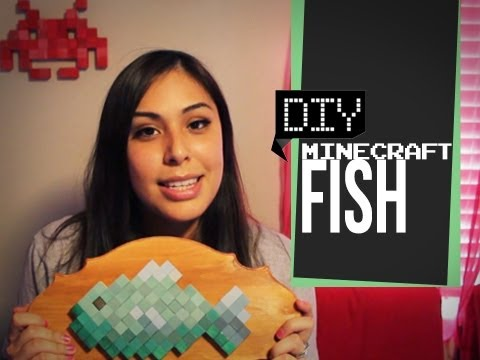 Minecraft Fish Plaque - DIY GG