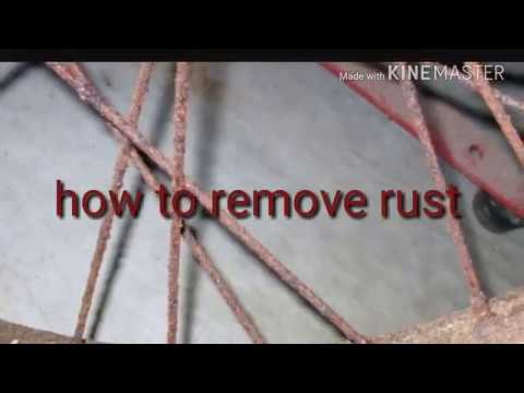 How to remove rust from your  bike wheels