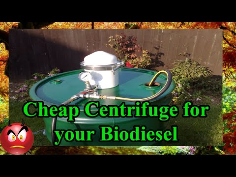 🔴 Biodiesel, Centrifuge your Waste Vegetable Oil (WVO)