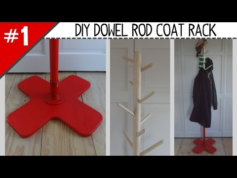 DIY Dowel Rod Coat Rack - Part 1 of 2