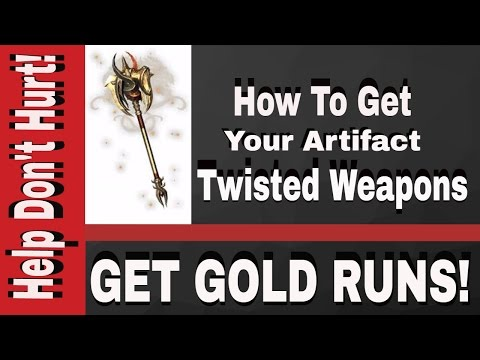 Twisted Artifact Weapon Set NeverWinter XboxOne PS4 PC How to get Gold!