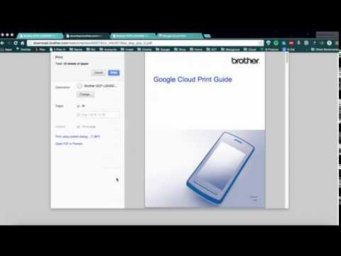 Setting up a Brother Printer on Google Cloud Print
