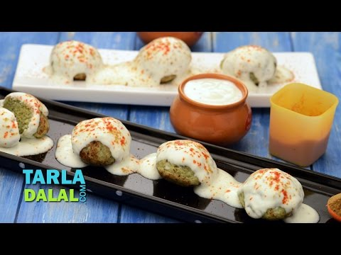 Moong Dal Dahi Vadas (Non-Fried) by Tarla Dalal