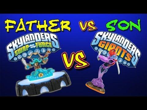 Skylanders Swap Force vs Skylanders Giants (Father vs Son) - Ring Out - Part 3