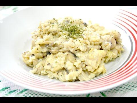 Creamy Chicken and Mushroom Risotto
