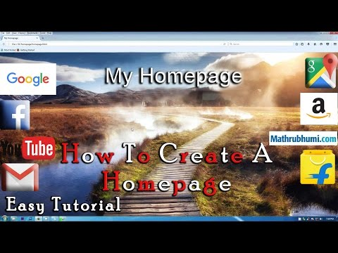 How To Create A Homepage Using HTML Language : Tutorial (Full HD)