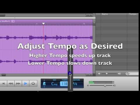 How to Speed up Songs in Garageband -Change in Tempo Tutorial
