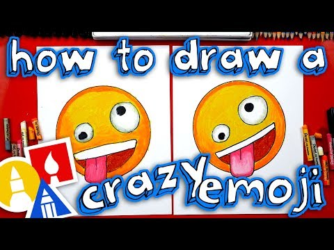 How To Draw The Crazy Face Emoji 🤪