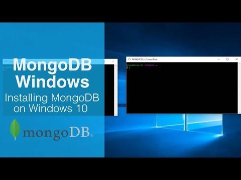 MongoDB Tutorial - Installing Mongo on Windows 10
