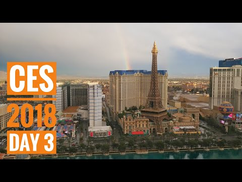 The show opens! Razer Project Linda, DJI Osmo 2, and more! - #CES2018 Vlog 3