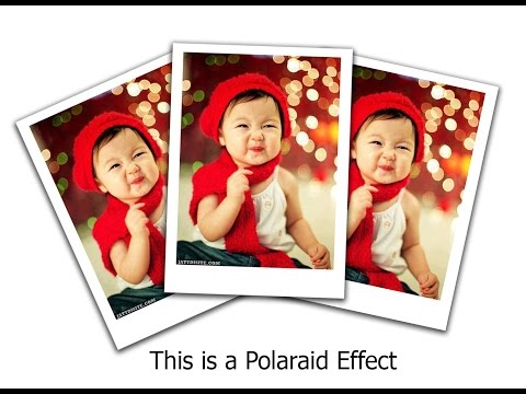 Adobe Photoshop CS6 Tutorial: How to Create a Polaroid Photo Effect Easy