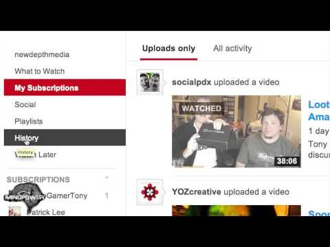 How to Clear & Pause YouTube History (January 2014) - MindPower009