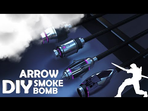 DIY Smoke Bomb Arrow In Real Life! - Hawkeye Inspired (Cool Spy Gadget)