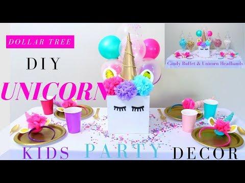 DIY UNICORN PARTY IDEAS | DIY UNICORN HEADBAND | DOLLAR TREE PARTY DECORATIONS