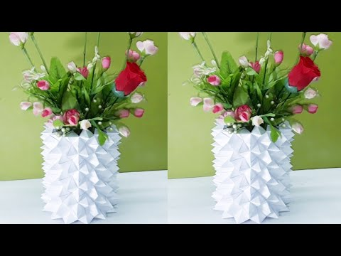 WOW! Unique Flower Vase Ideas at Home with Paper | DIY Art and Craft