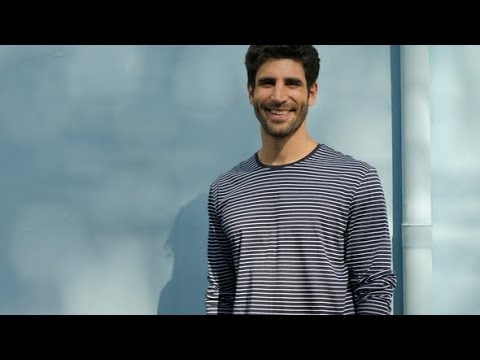 Smiling Guy in Stripes | Stock Footage