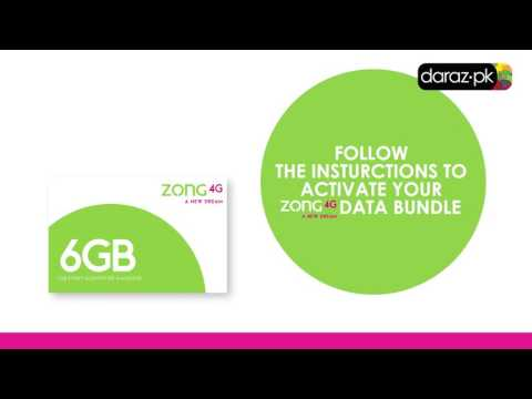 How to activate your Zong data bundle.